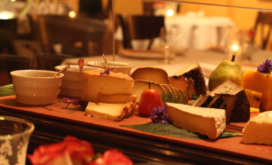 The magnificent cheese cart.