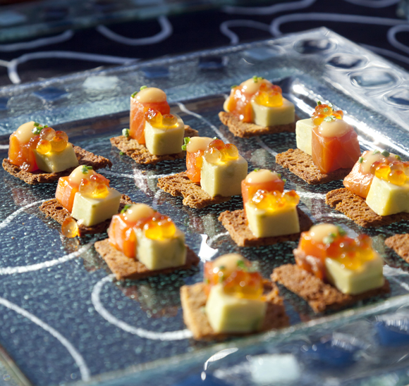 Salmon crudo bites at last year's &quot;Best of the Bay.'' (Photo by Dana Underwood)