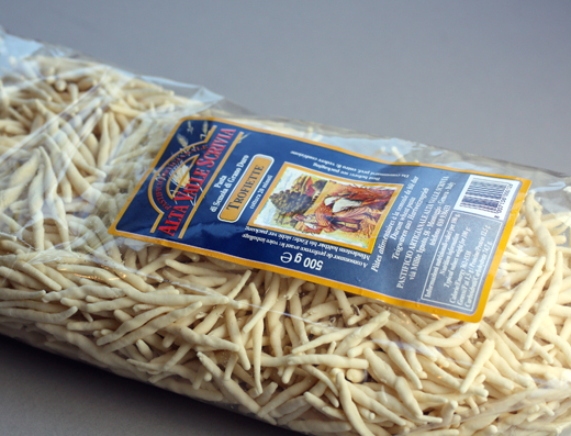 Ligurian dried pasta from Eataly.