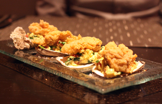 An oyster hangtown fry like you've never seen before.