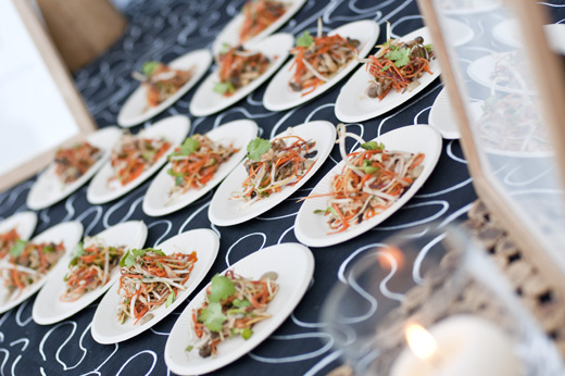Plates of Asian slaw at last year's soiree. (Photo by Marcie Franich)