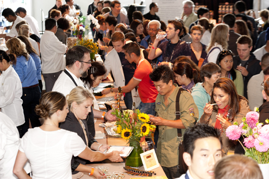 Good eats and drinks at the Grand Tasting at last year's SF Chefs. (Photo by Marc Fiorito)