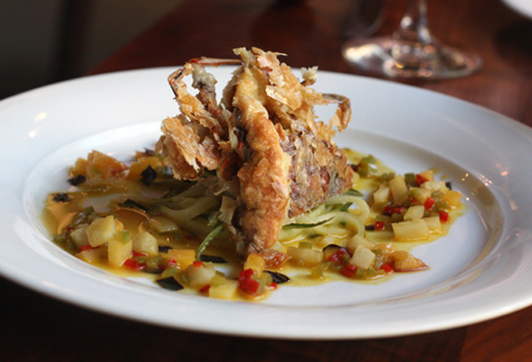 Soft-shell crab gets an Asian spin at Lucy at Bardessono.