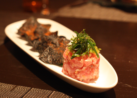 A new look at ahi tartare at Citrus in the Valencia Hotel.