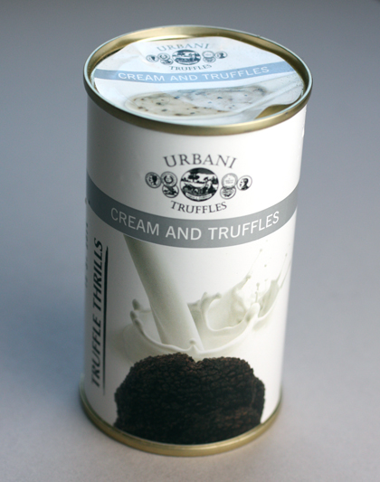 Truffle cream sauce in a can -- a perfect souvenir that won't break or leak in your luggage.