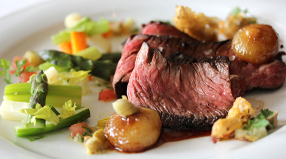 A succulent beef dish at the Village Pub. Photo courtesy of the Village Pub)
