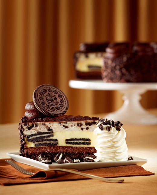 The new Oreo Dream Extreme Cheesecake from the Cheesecake Factory. (Photo courtesy of the restaurant