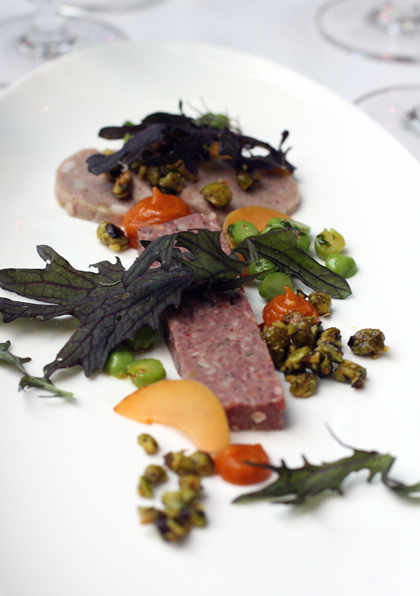 Mark Dommen's goat charcuterie with apricots and pistachios.