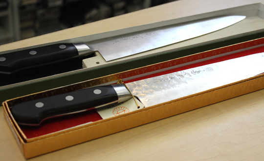 The favored Japanese knives of late.