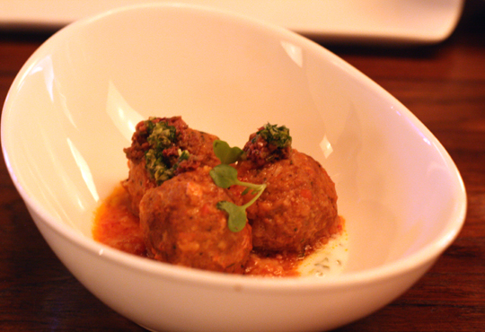 Lamb meatballs -- my heart be still.