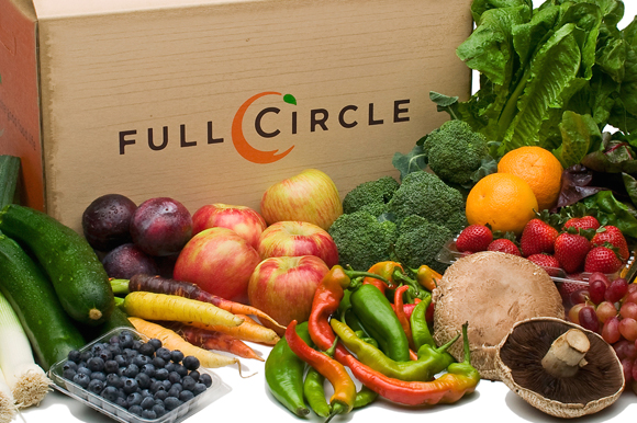 A peek at what a Full Circle produce delivery box contains. (Photo courtesy of Full Circle)