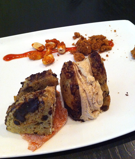 Mozzeria's loaded ice cream sandwich plate. (Photo courtesy of Mozzeria)