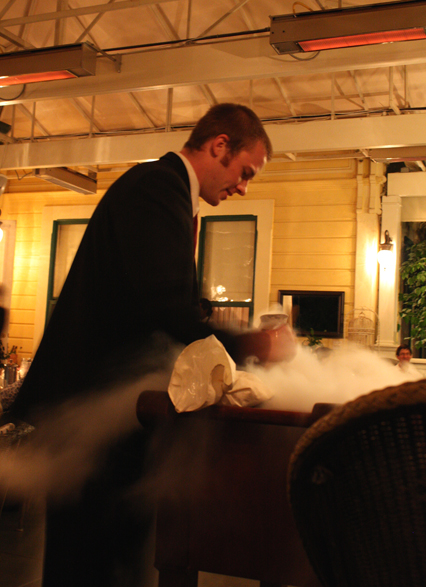 Are you ready for some liquid nitrogen ice cream made tableside?