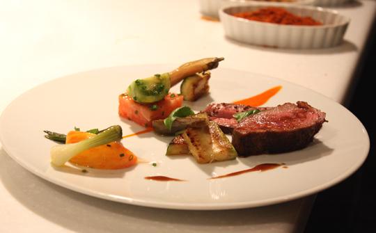 The Sullivan-Aflalo lamb dish.