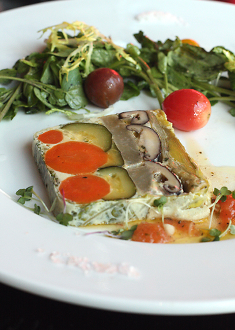 Meat isn't the only thing to indulge in at LB Steak. How about this beautiful veggie terrine?