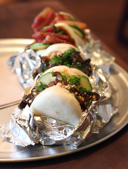 The fabulous veggie buns at the Palo Alto locale. (Photo by Carolyn Jung)