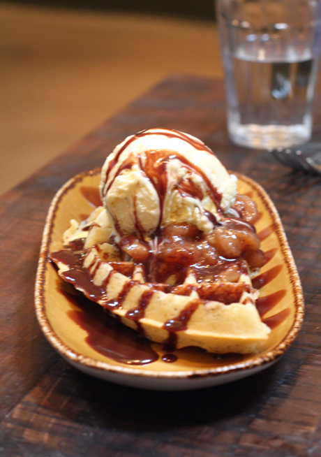 How about a decadent Belgium waffle for dessert? At Portola Kitchen, you can so indulge.