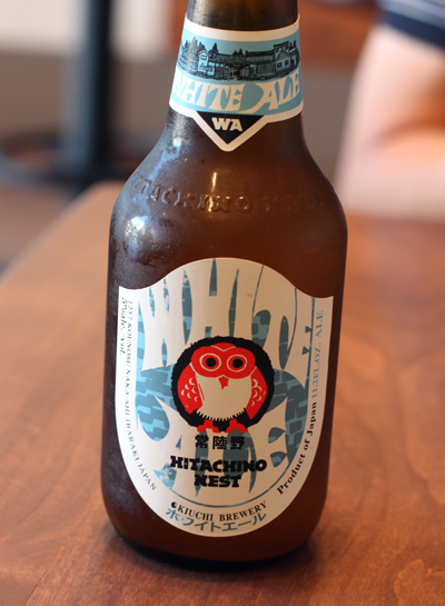 Pacio's favorite beer, a Japanese white ale, which he serves at Spice Kit Palo Alto. (Photo by Carolyn Jung)