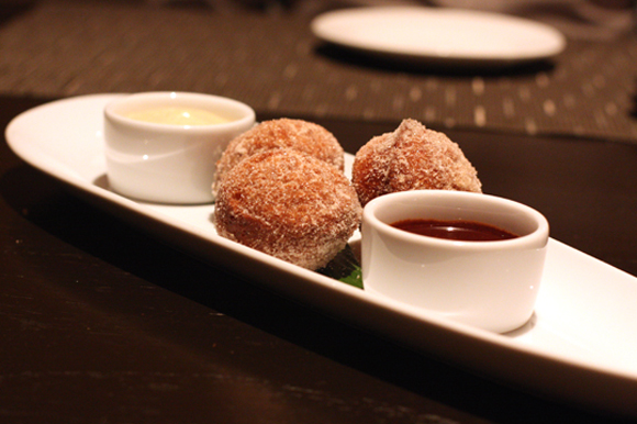 What could be better after a day of shopping at Santana Row than popping into Citrus restaurant for some fresh, warm donuts?