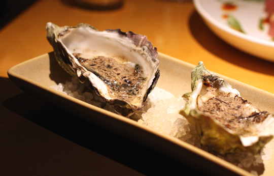 Oysters that are just barely baked. Sublime.
