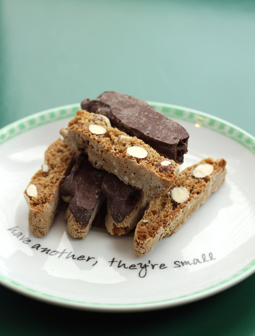 Crunchy and dainty biscotti by a woman who sure knows how to make them.