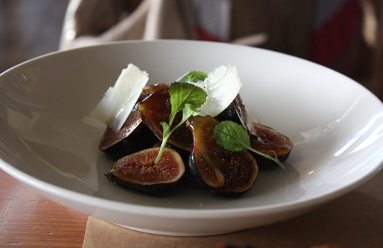 Figs with bacon jam.