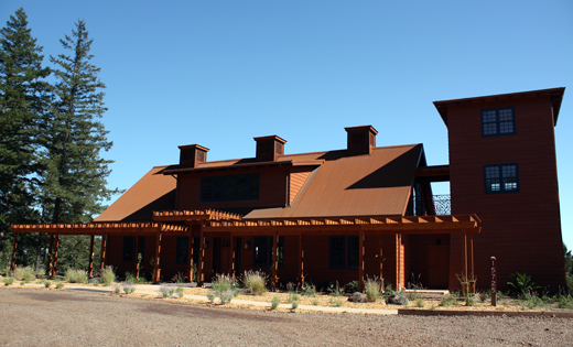 The exterior of the tasting room.