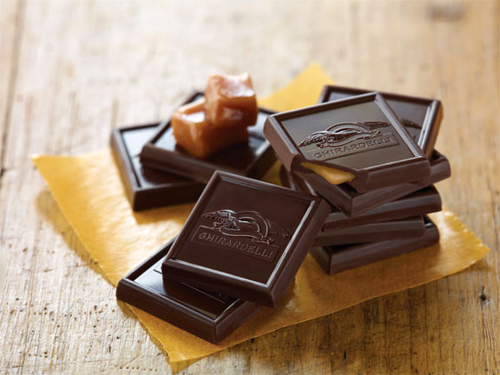 Deep dark chocolate squares from Ghirardelli. (Photo by James Hall Photography)