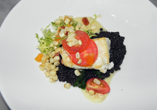 Alaskan halibut with tomato relish and lentils at the Tavern at Lark Creek. (Photo courtesy of Lark Creek Restaurant Group)