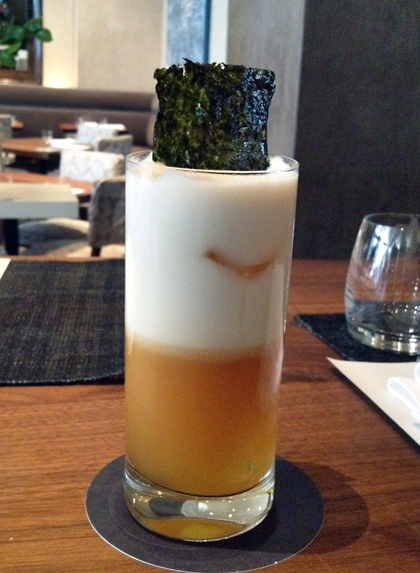 A cocktail to salute the America's Cup. (Photo courtesy of Michael Mina restaurant)