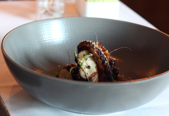 Charred, tender octopus.