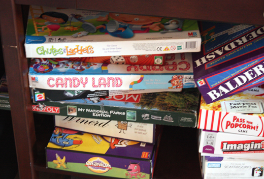 A trove of old-school board games.
