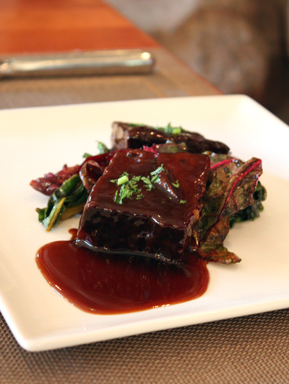 Meaty short ribs with a sticky, thick Asian-inspired sauce.