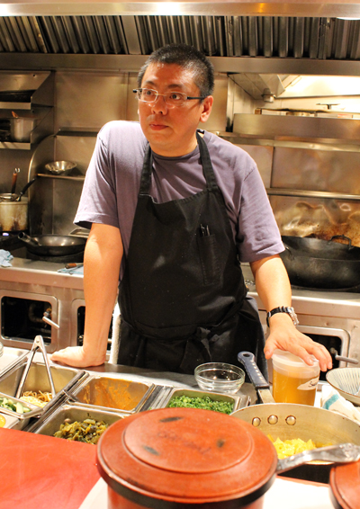 Alex Ong in his kitchen at Betelnut.