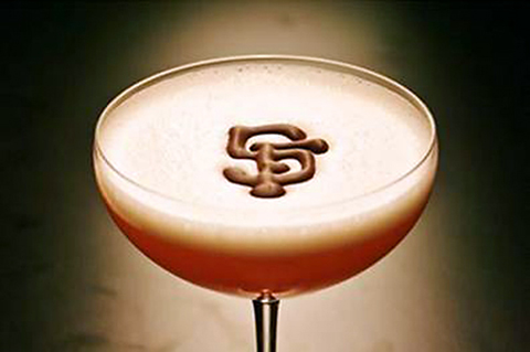 A cocktail to honor Giants pitcher Matt Cain. (Photo courtesy of Chef Hiro Sone)