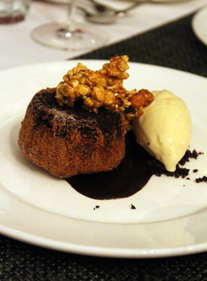 An ever so rich and wonderful peanut butter milk chocolate fondant.