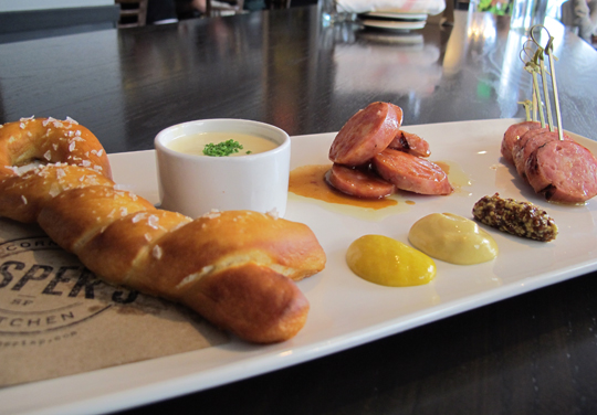 The Oktoberfest plate at Jasper's Corner Tap & Kitchen. (Photo courtesy of the restaurant)