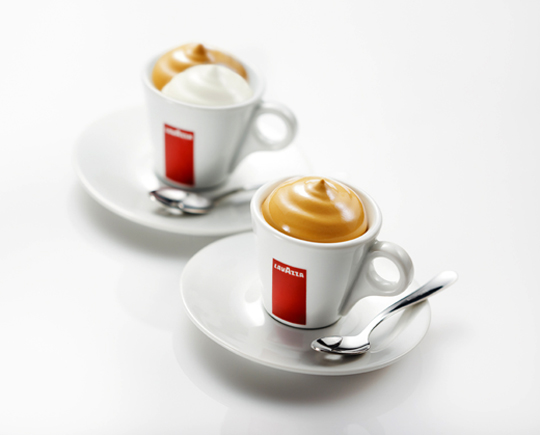 Ferran Adria's liquid-to-solid coffee concoction. (Photo courtesy of Lavazza)