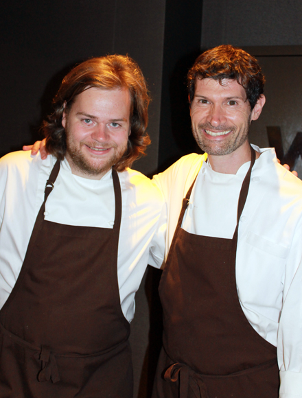 Swedish sensation Magnus Nilsson cooks with Daniel Patterson of Coi.