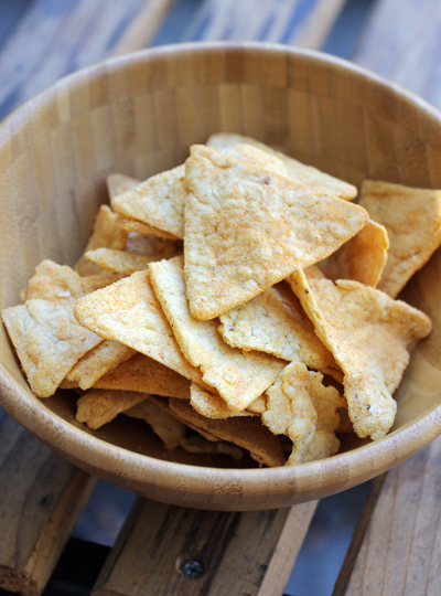 Nacho Cheese PopChips tortilla chips.