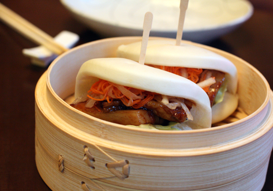 Bountiful pork belly buns.