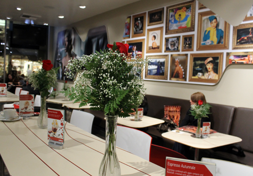 The San Jose cafe, which features artwork by top fashion photographers.