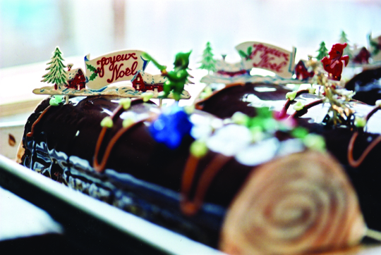 A festive, scrumptious yule log. (Photo courtesy of La Boulange)