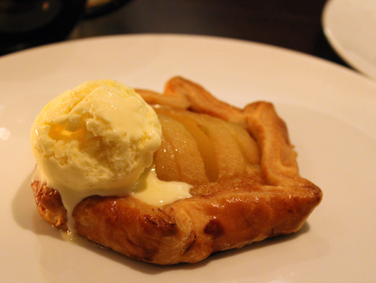 Juicy fresh pears from the Philo Apple Farm star in this crostata.