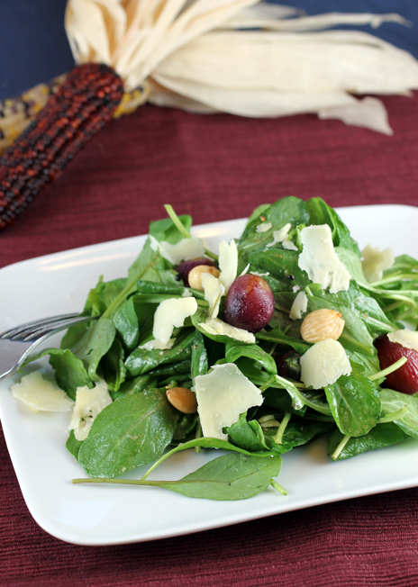 See those lovely roasted grapes? They make this salad something special.