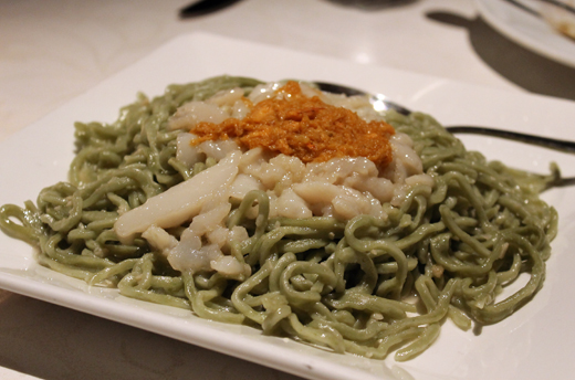 A Chinese version of Italian pasta that wasn't necessarily successful.