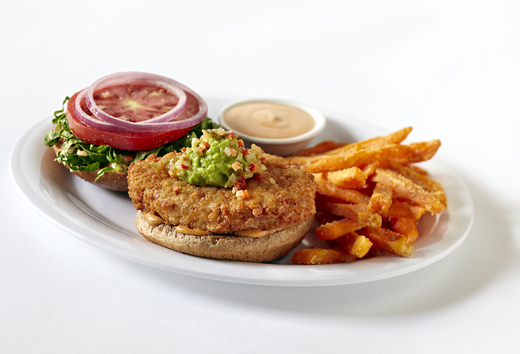 Veggie Grill Crispy Chickin Sandwich (made from wheat gluten). (Photo courtesy of Veggie Grill)