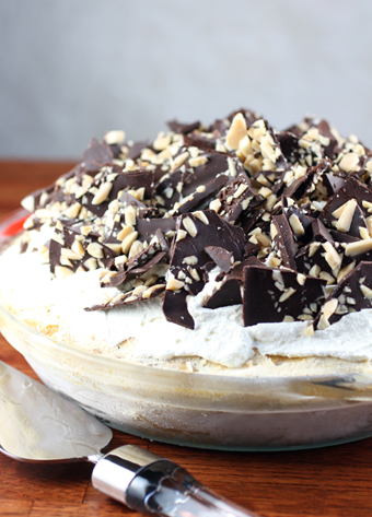 ... Pumpkin Swirl Ice Cream Pie with Chocolate-Almond Bark and Toffee