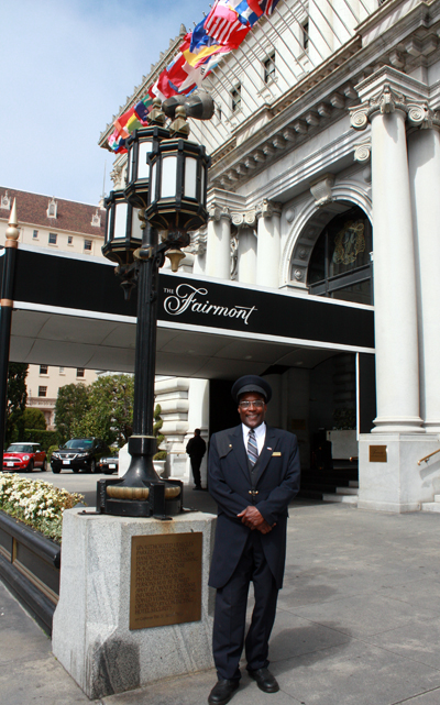 A grand hotel deserves a grand doorman.