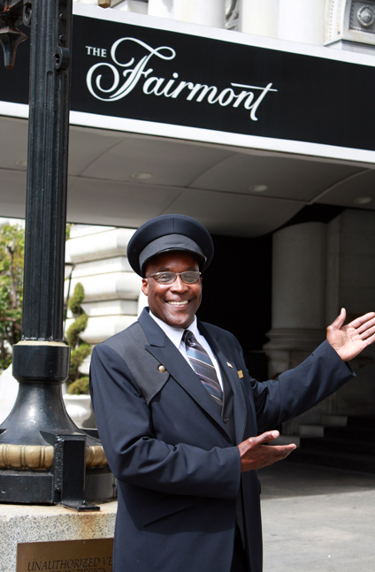 San Francisco's fabled doorman, William May.